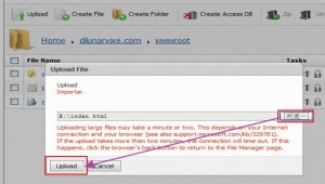 Arvixe Windows空间上传文件图解